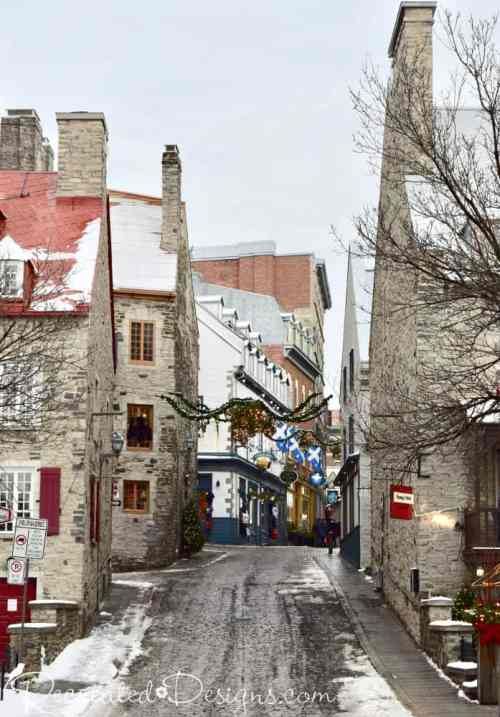 stone buildings Old Quebec City travel
