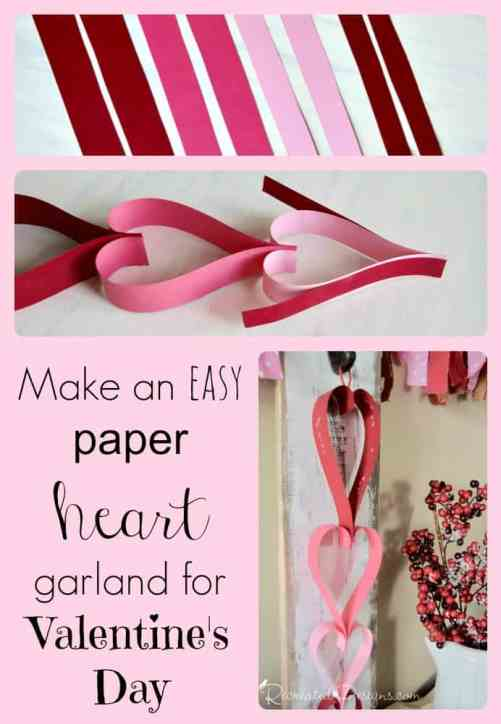 How to Make a paper heart garland an easy DIY by Recreated Designs