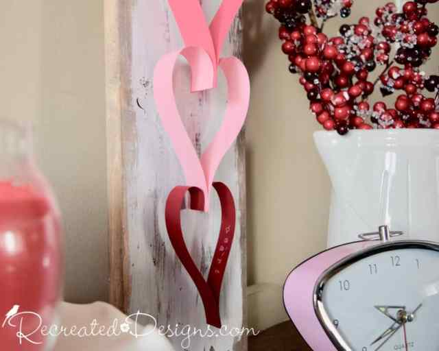 paper heart garland DIY by Recreated Designs