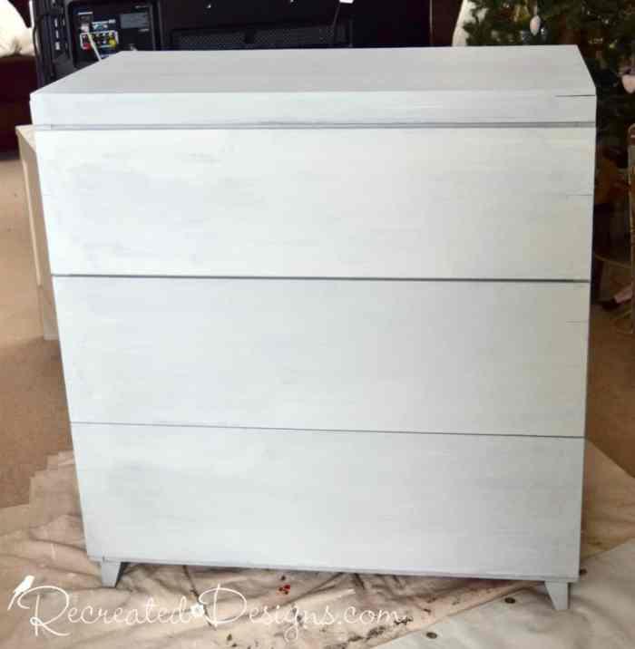 vintage dresser painted with Miss Mustard Seed Milk Paint in Mora