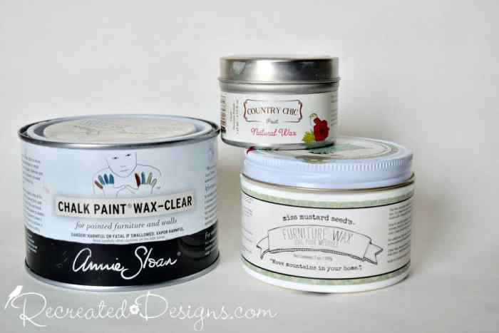 furniture wax used over painted furniture for a durable finish