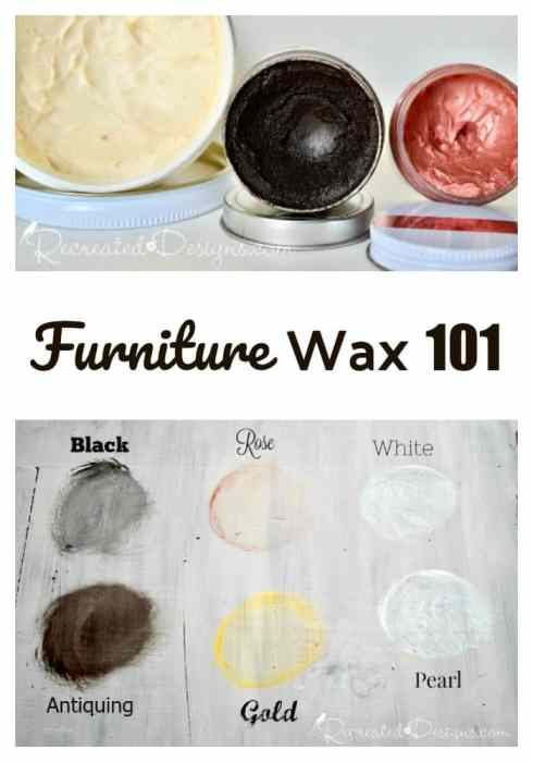 Furniture wax 101 for furniture upcycles