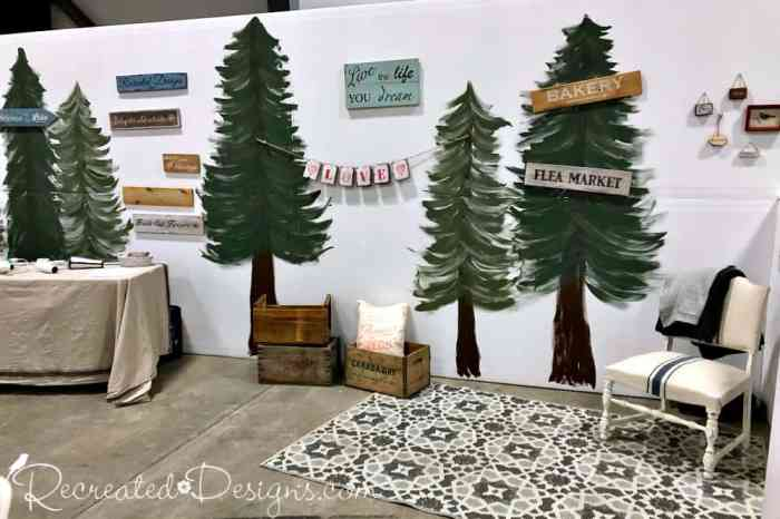 backdrop hand painted trees Ottawa Home and Renovation Show January 2019