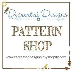 Recreated Designs Pattern Shop Badge
