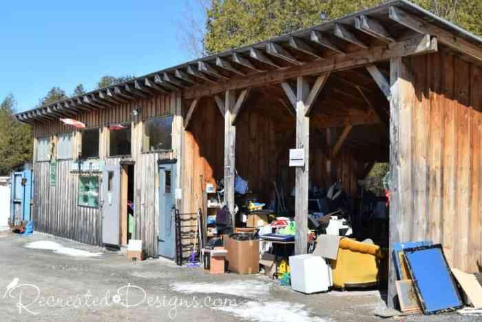 reuse centre at the dump McDonald's Corners Ontario