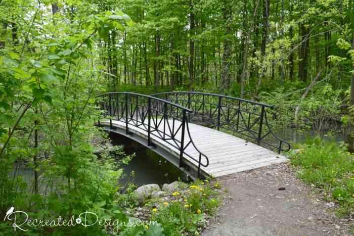 Bridge over path at Montebello, Quebec