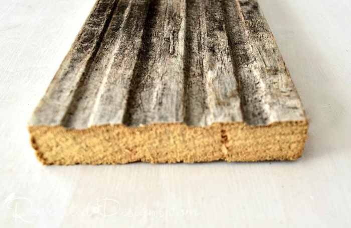 cut reclaimed wood before Varathane Weathered Wood Accelerator
