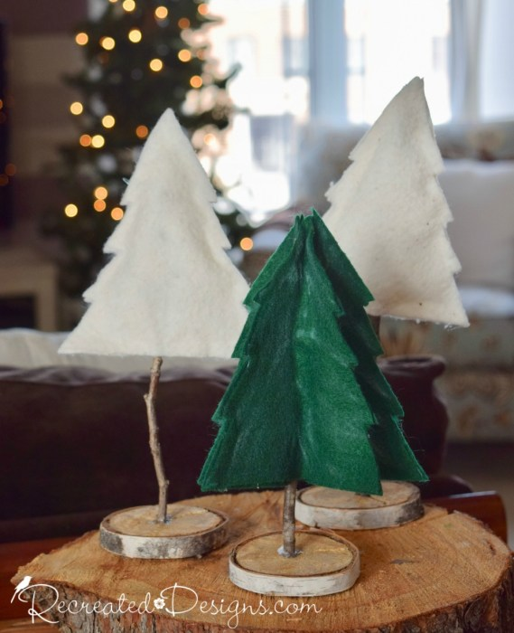Christmas Trees made from felt