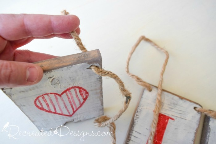 using Hemp Twine to string wood together