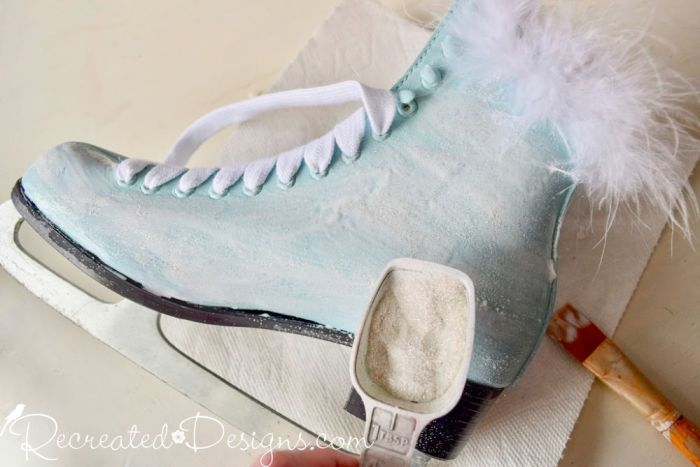 adding sparkle to painted skates