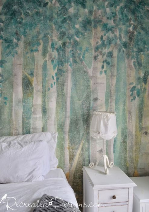 birch forest wall paper
