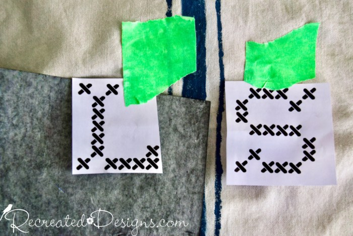adding monograms to a pillow cover
