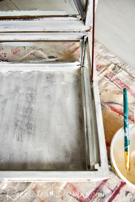 painting a wood terrerrium