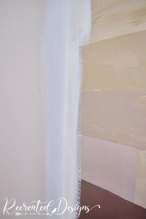 cutting in with white paint before wallpapering
