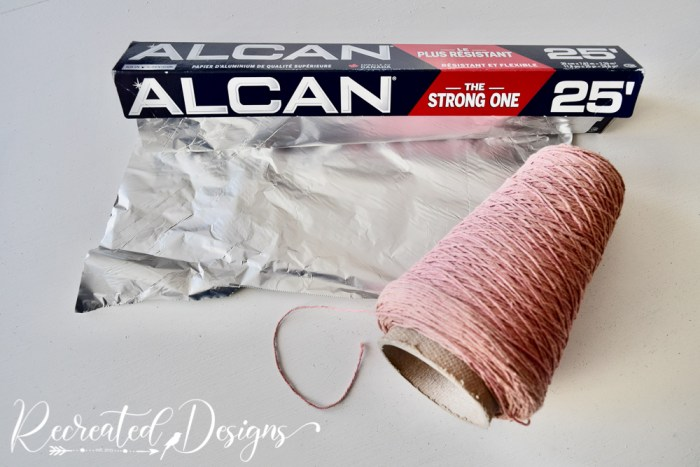 tinfoil and vintage string