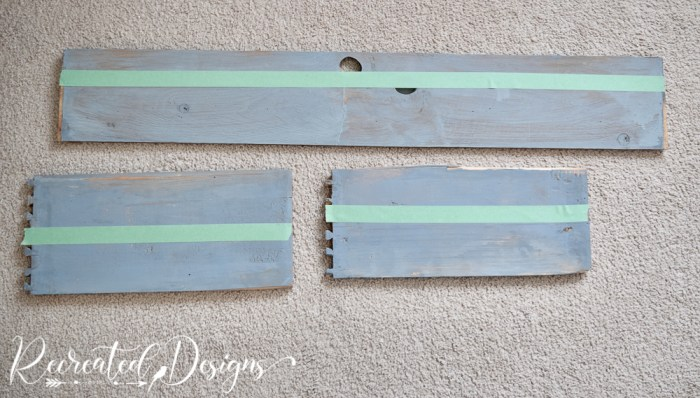 measuring length of wood pieces