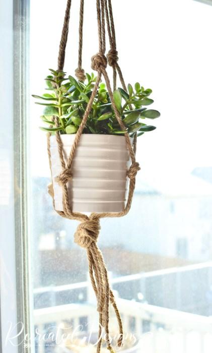 twine macrame plant holder