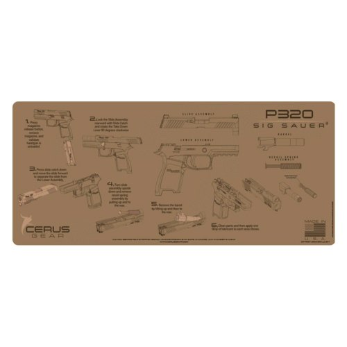small resolution of cerus gear sig sauer p320 coyote tan instructional handgun promat