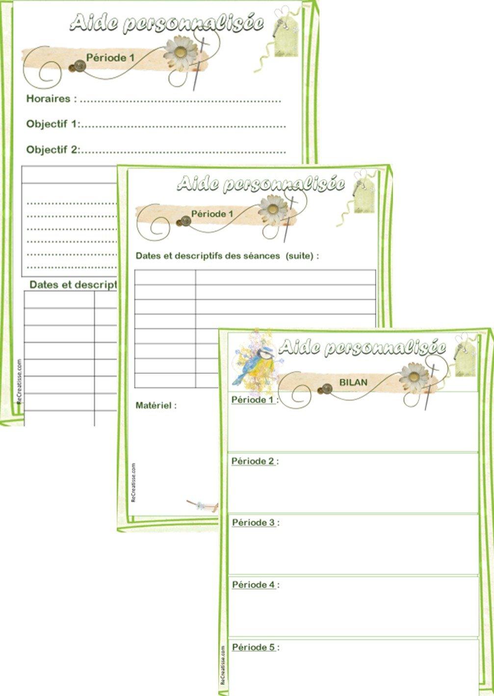ORGANISATION Cahier Journal De La Maitresse ReCreatisse