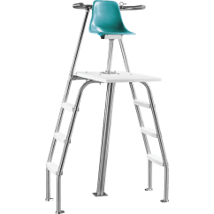 Paragon Lifeguard Chairs Cane Seat Paraflyte Permanent Chair - Side Ladders