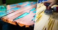 Un diseador muestra como hacer una mesa que brilla en la ...