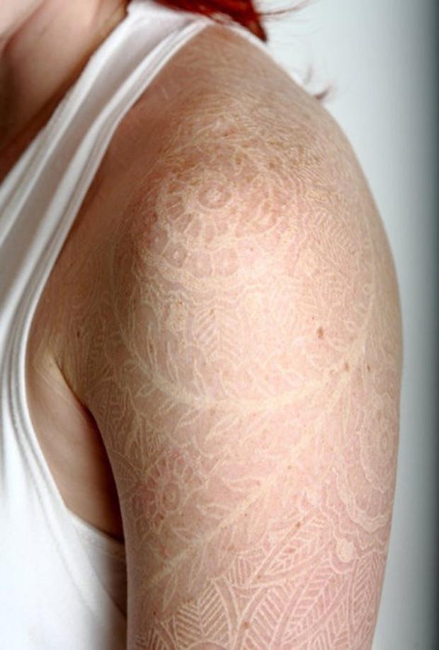 21 Increíbles Tatuajes En Tinta Blanca Con Mucha Creatividad