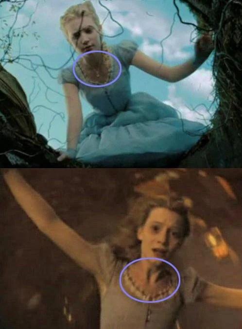Error en la película Alicia en el país de las maravillas