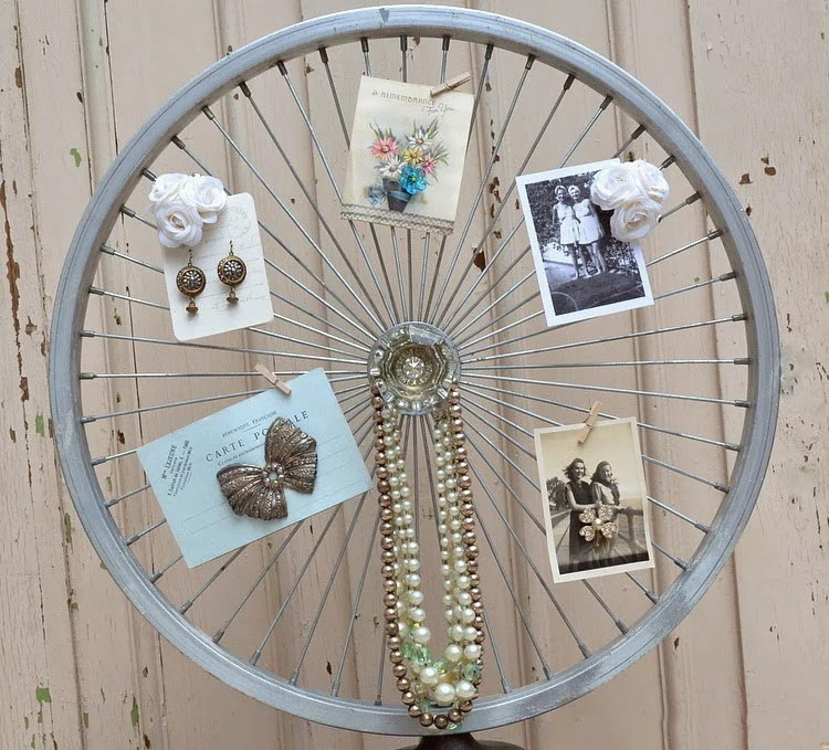 20 maneras de cmo reciclar las ruedas de tu bicicleta