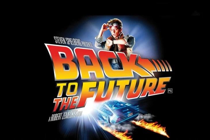 póster que anuncia la película de volver al futuro