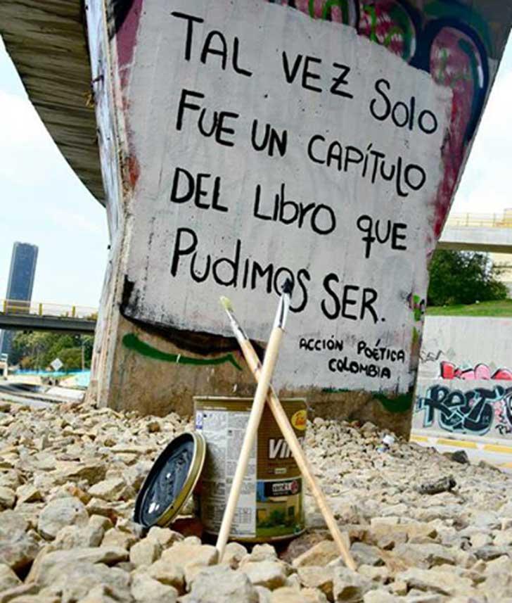 Graffitis de Accin Potica que queremos que nos dediquen