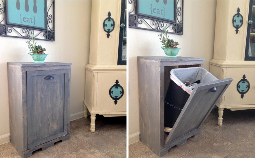 small recycling bins for kitchen lights ideas para aprovechar el espacio en hogar