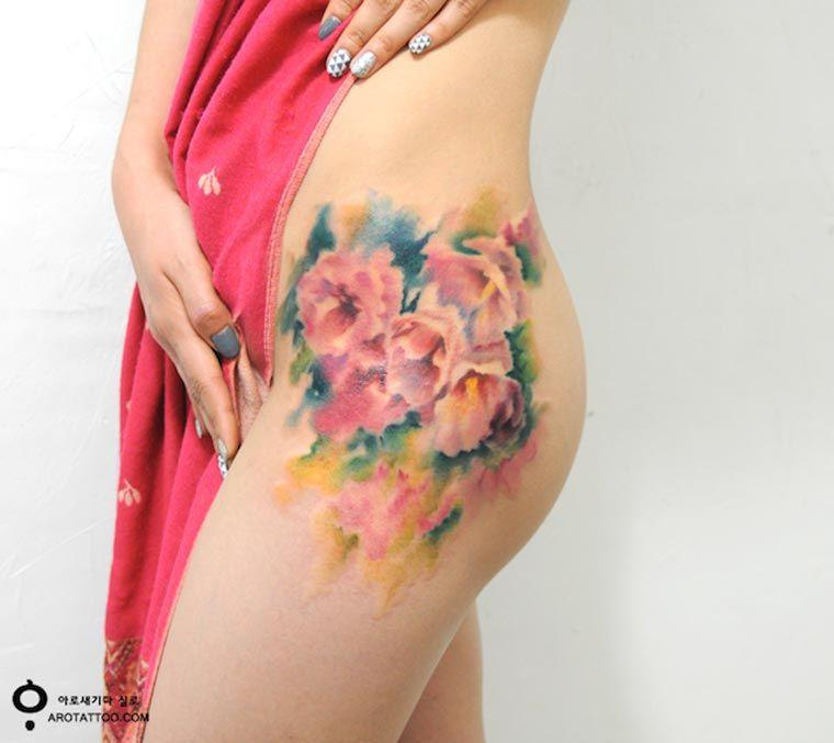 Tatuajes Florales Estilo Coreano Tkm México
