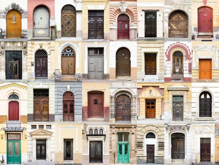 fotografías del estilo de las puertas y ventanas en Rumanía por el fotógrafo portugués André Vicente