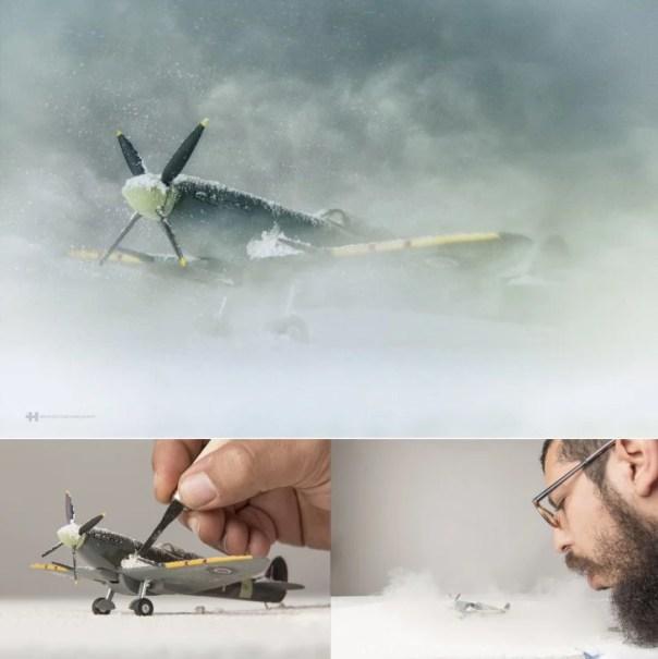 Félix Hernández convierte fotografías de juguetes dentro de asombros escenarios