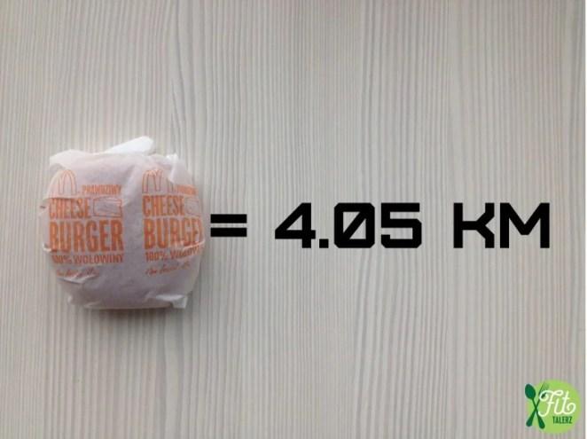 Κάθε burger, 4,05 km. Ναι, chiquitas