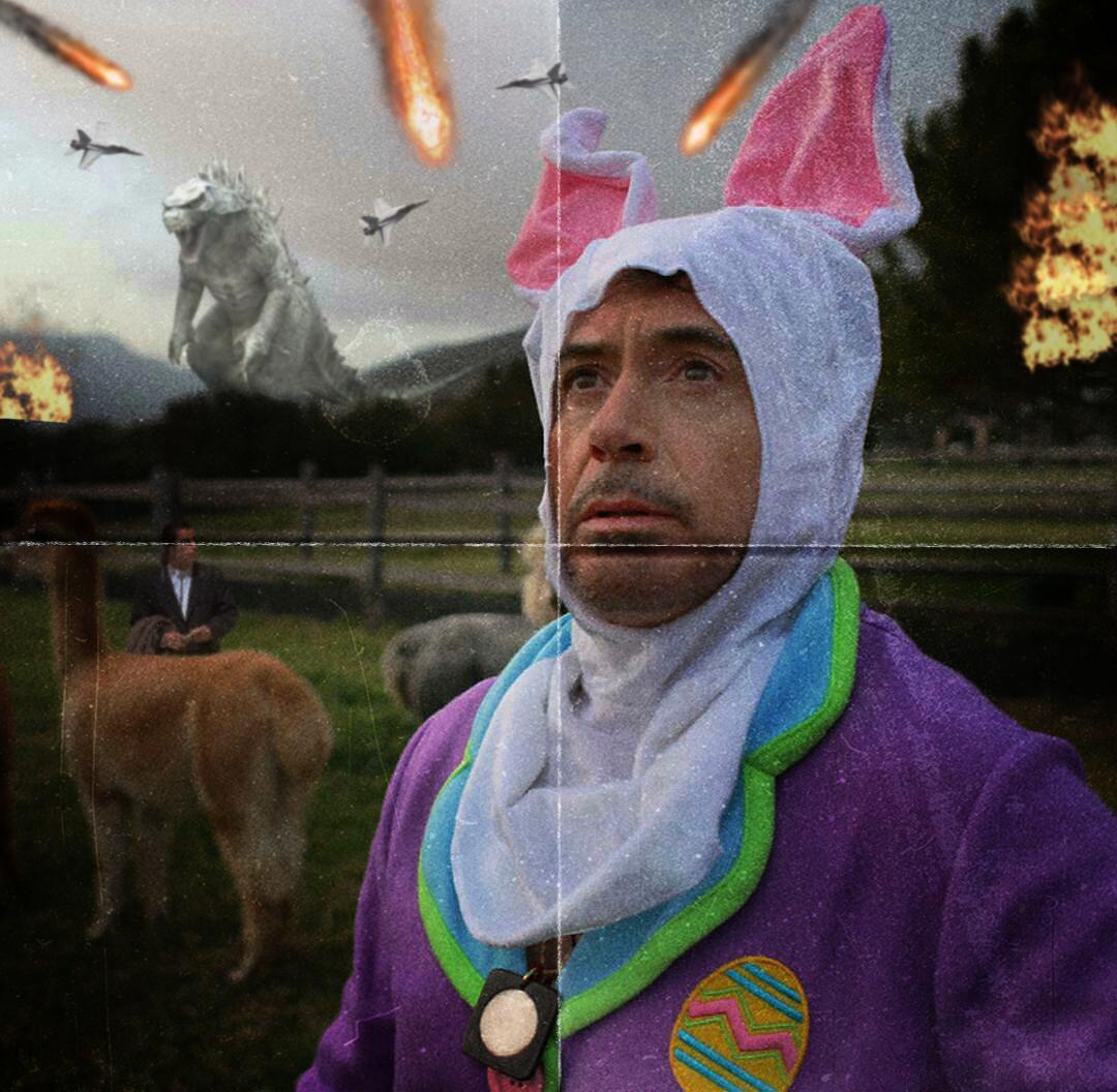 Robert Downey Jr se visti de conejo Internet lo trolle