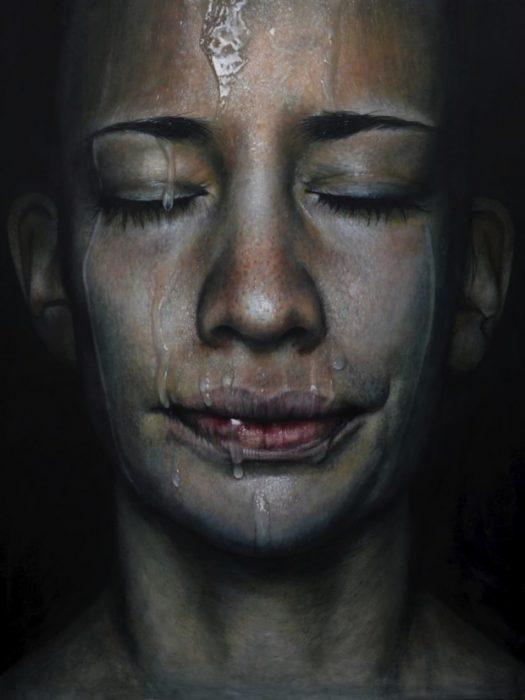 Retrato pintura de Erica Elan