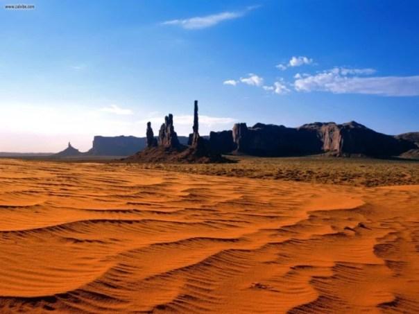 Desierto de arena enorme