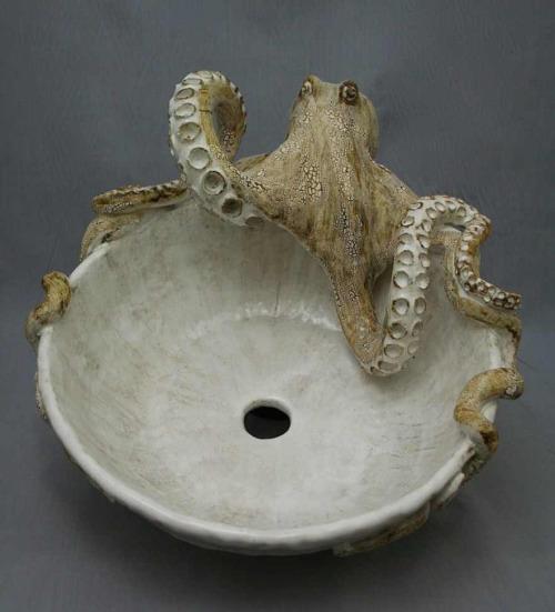 lavabo en forma de pulpo
