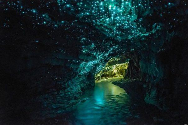 fluorescencia en una cueva