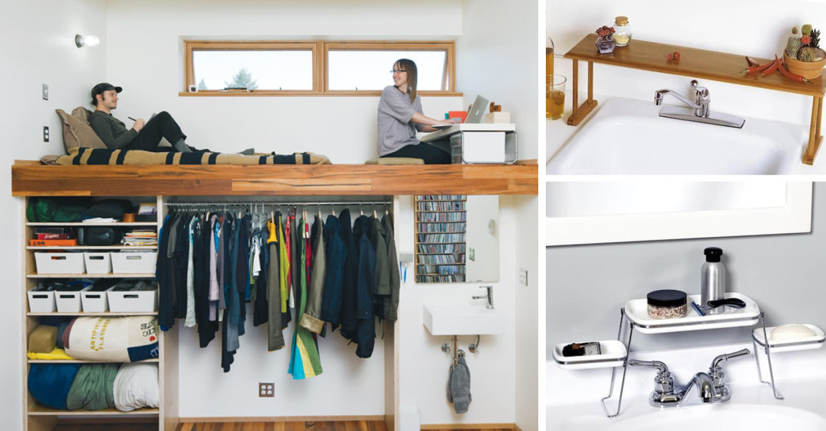 15 ideas para ahorrar espacio y decorar lugares pequeos