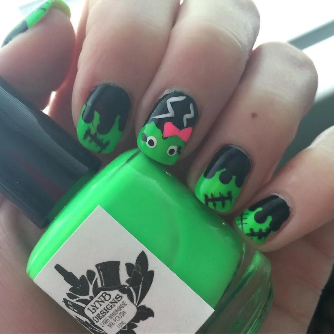 Fantástico Diseños De Uñas De Halloween 2015 Molde - Ideas Para ...