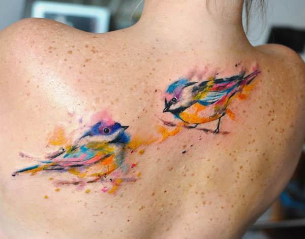 tatuajes de aves en diferentes