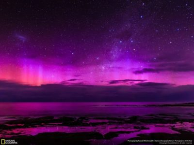 paisaje nocturno violeta