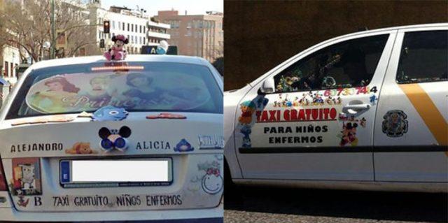 taxi para pequeños enfermos gratuitas