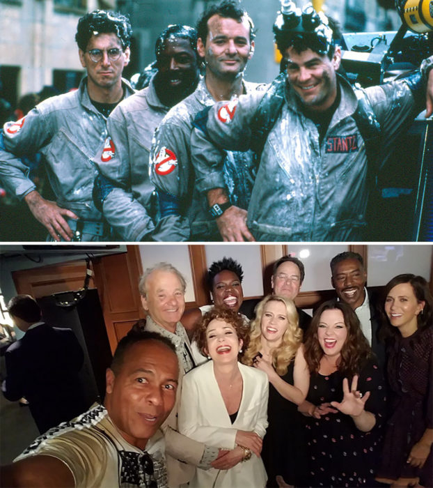 actores de ghostbusters 1984 vs 2016