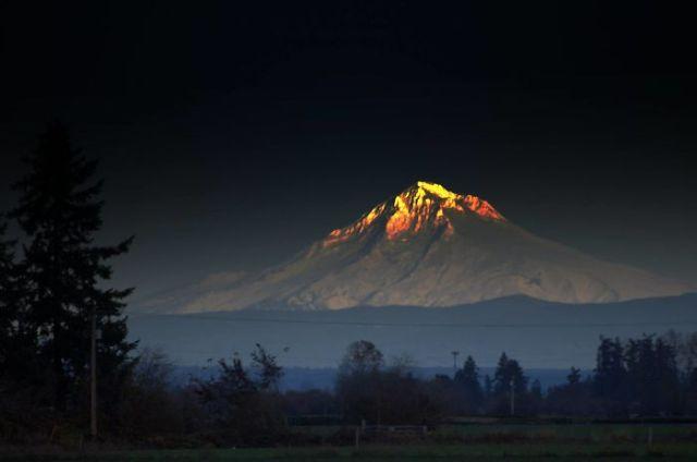 montaña reluciente