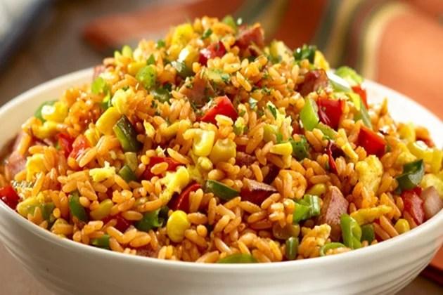 arroz frito comida vegana