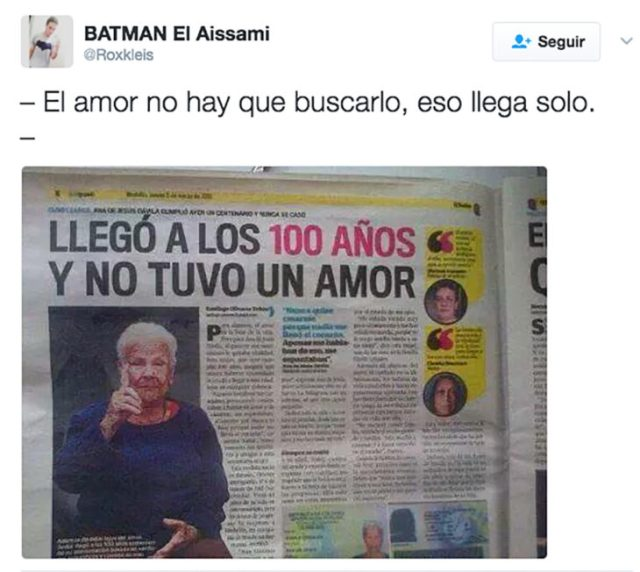 mujer en periódico que llegó a los cien años y jamás tuvo amor
