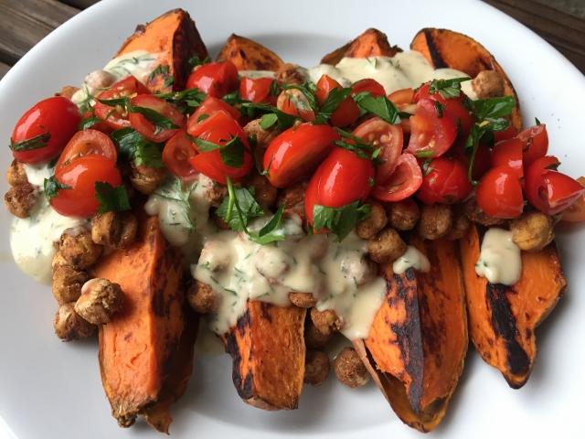 patatas dulces comida vegana